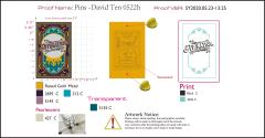 Pins - 2.5inch for David Ten 0522h