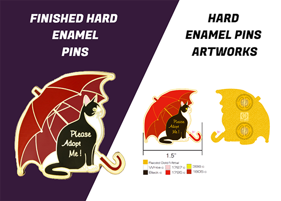 design art and hard enamel pin