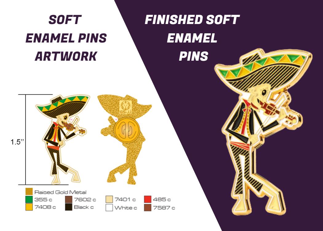 design art and soft enamel pin