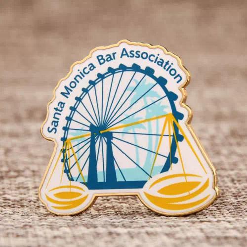 Santa Monica Bar Association Shirt custom pins