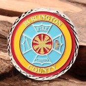 Burlington Firefighter Challenge Coins