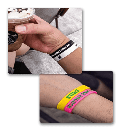 people wear exquisite silicone wristbands