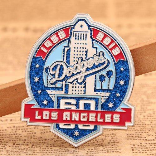 Dodgers Baseball Trading Pins