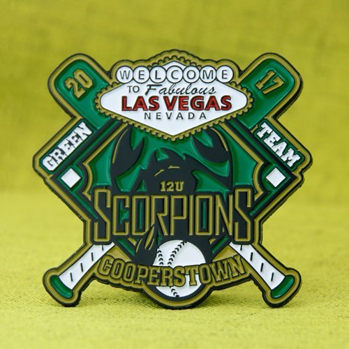 Scorpions Cooperstown  Baseball Pins