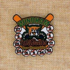 Windham Wildcats Baseball Pin