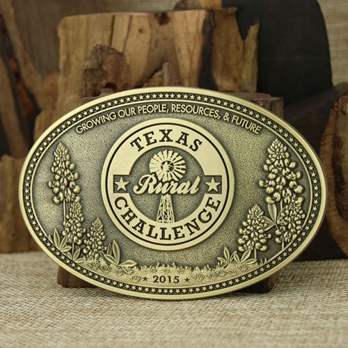 Texas Custom Brass Belt Buckles