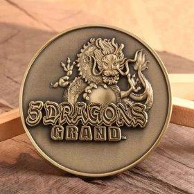 5 Dragons Grand Custom Coins
