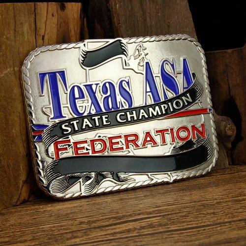 Texas ASA Cool Belt Buckles