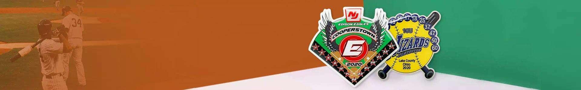 Offset Printed Baseball Pins