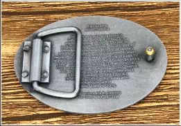 Belt Buckles With Back Text