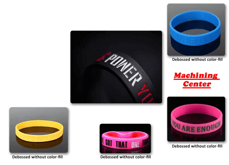 Crafted debossed wristbands