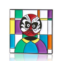 Square Drama Mask Enamel Pins