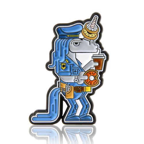 Unicorn Policeman Enamel Pins