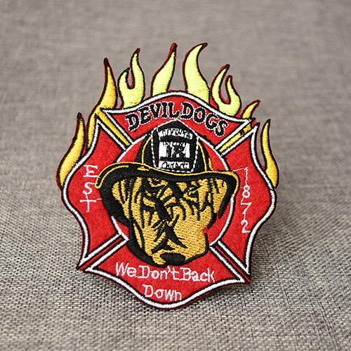 Devil Dogs Cheap Embroidered Patches