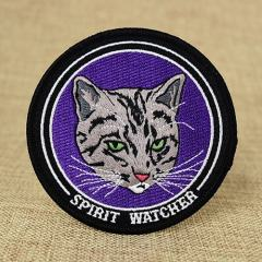 Fierce Cat Custom Embroidered Patches