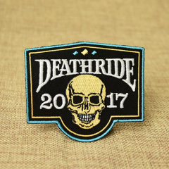 Death Ride Custom Skull Patches