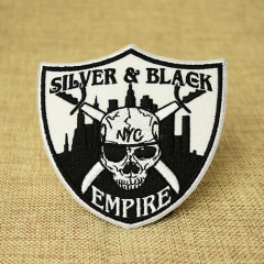 Silver & Black Empire Custom Patches