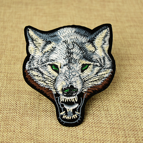 Custom Wolf Embroidered Patches