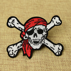 Pirate Skull Embroidered Patches