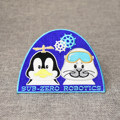Embroidered Penguin and Polar Bear Patches