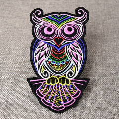 Embroidered Colorful Owl Patches