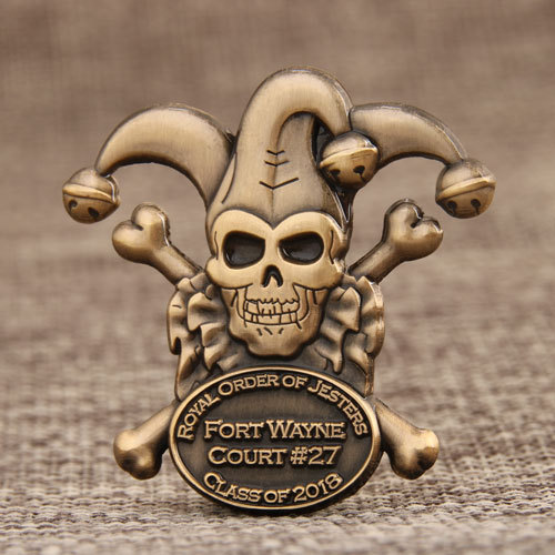 Royal Order Of Jesters 3D Custom pins