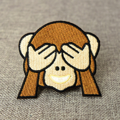 Cute Monkey Embroidered Patches