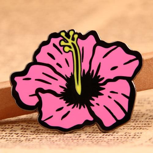 Pink Flower Lapel Pins