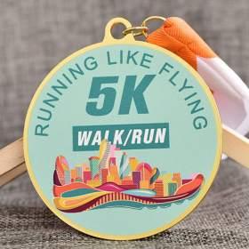 Custom Printed Medals for 5K Running