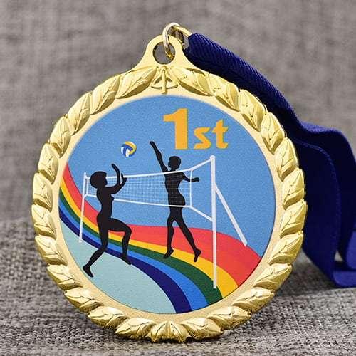 Custom Tennis Printed Medals