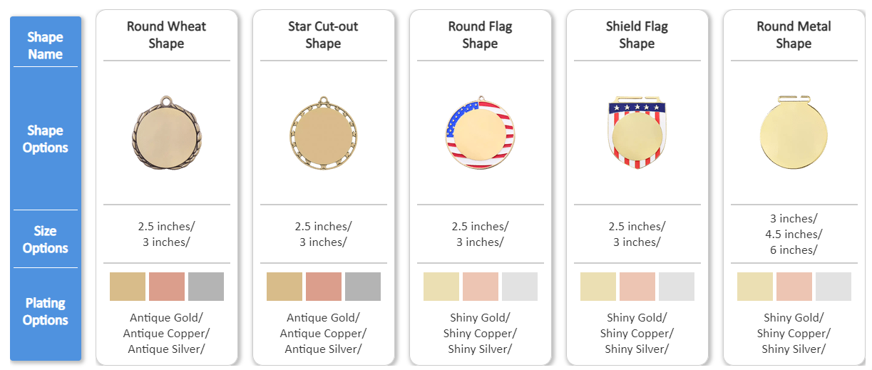 GS-JJ Stock UV Printed Medals