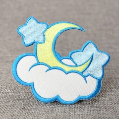 Cloud Embroidered Patches