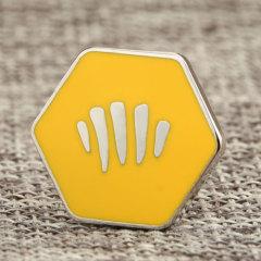 Yellow custom lapel pins