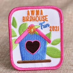 Birdhouse Embroidery Patches