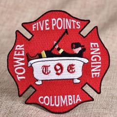 Fireman Embroidery Patches
