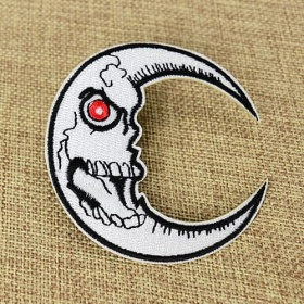 Moon Embroidered Patches