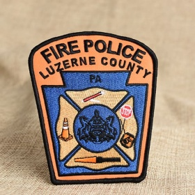 Fire Police Embroidered Patches