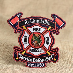 Fire Rescue Custom Patches