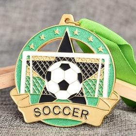 Custom Glitter Soccer Medals