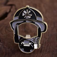 Helmet Firefighter Challenge Coins