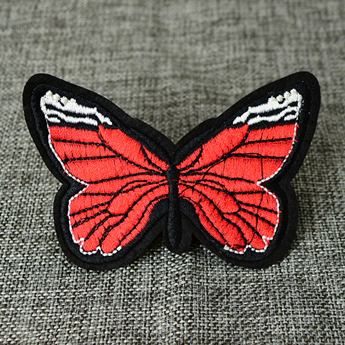 Flower Butterfly Custom Patches