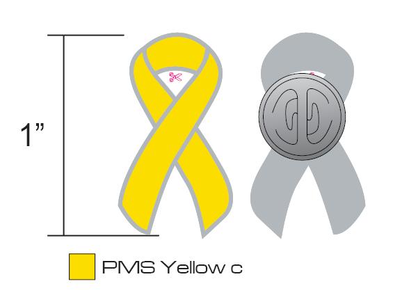 Stock Yellow Awareness Pins