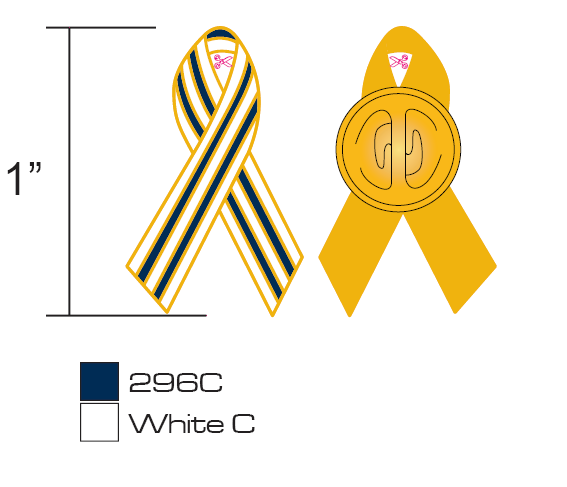 Stock Stripe Awareness Pins