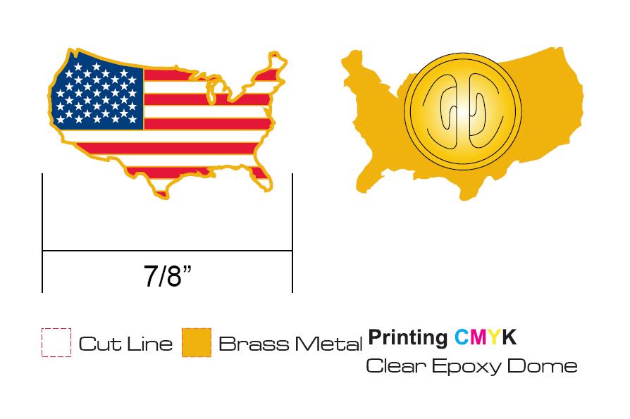 America Map Pins