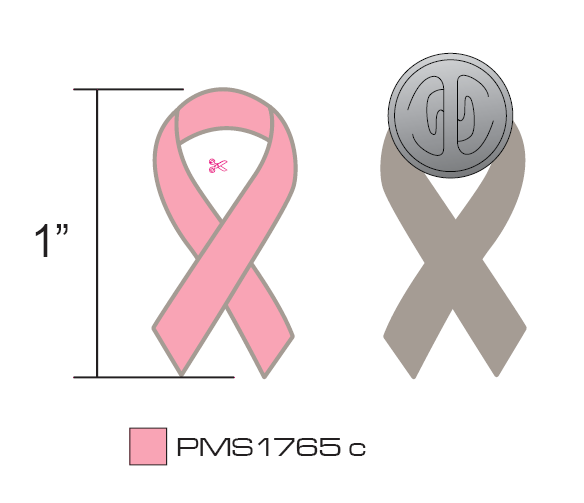 Stock Pink Breast Cancer Pins