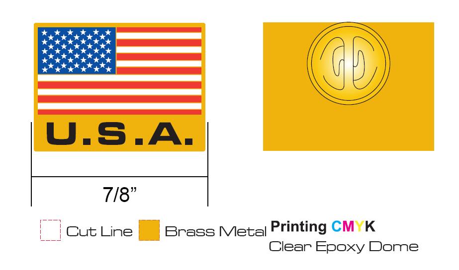 Cool USA Flag Pins