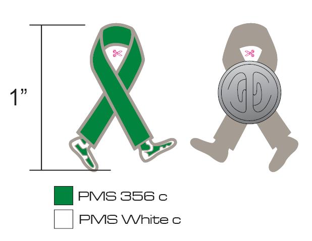 Stock Green Awareness Pins