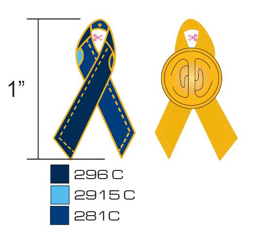 Stock Blue Awareness Pins