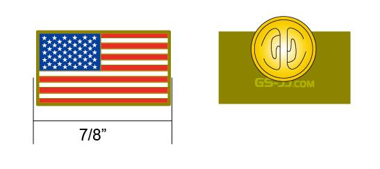 American lapel pins