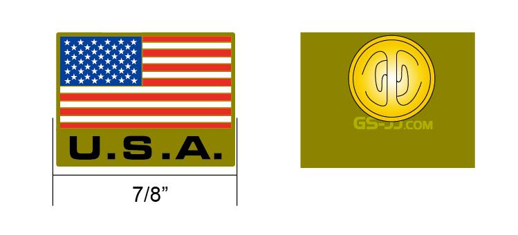 USA flag lapel pin